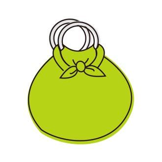 風呂敷使い方:いちごバッグ